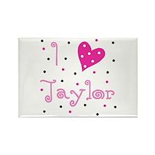 Rectangle Magnet - I (Heart) Taylor