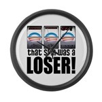 That Spin Was a Loser Large Wall Clock