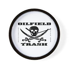 Oil Field Trash,Skull Wall Clock,Oilfield Gift,Oil