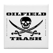 Oil Field Trash,Skull Tile Coaster,Oil,Gas,Rigs