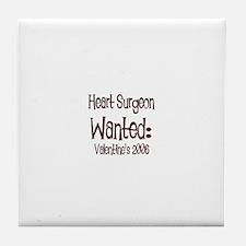 Heart Surgeon Wanted: Valenti Tile Coaster