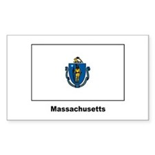 Massachusetts State Flag Rectangle Decal
