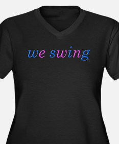 we swing Women's Plus Size V-Neck Dark T-Shirt