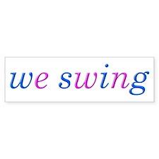 we swing Car Sticker