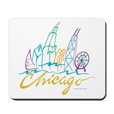 Chicago Stylized Skyline Mousepad