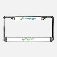Blue Bird Happy Hugger License Plate Frame