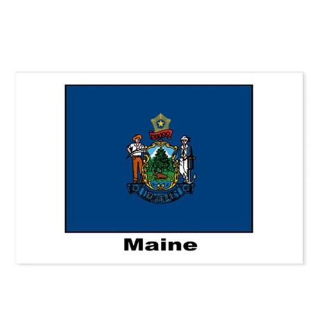 maine flag coloring page - maine state flag postcards package of 8 by w2arts