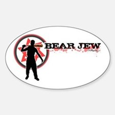 Bear Jew Sticker (Oval)