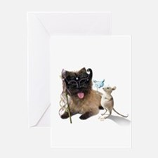 Cairn Terrier with Rat Greeting Card