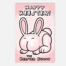 The Keister Bunny Postcards (Package of 8)