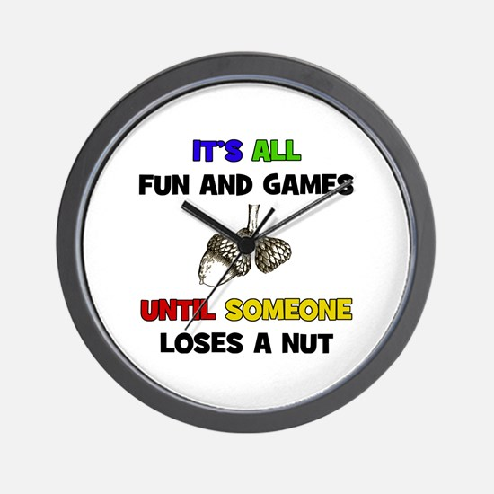 Fun & Games - Nut Wall Clock