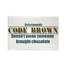Code Brown Magnet for RN, LPN, CNA, nursing tech
