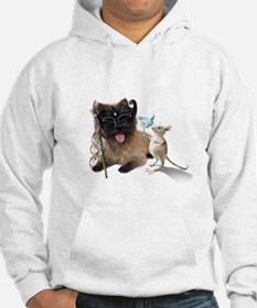 Cairn Terrier with Rat Hoodie Sweatshirt