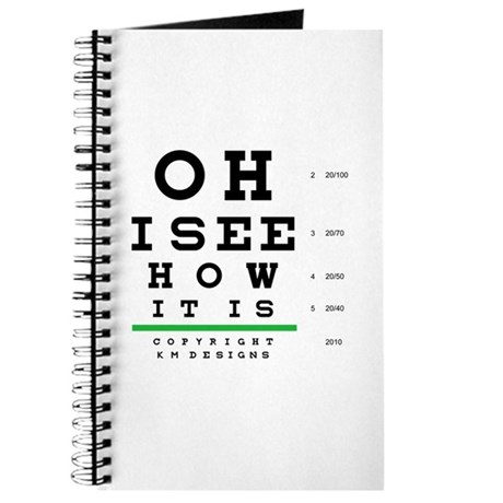 Oh, I see how it is Eye Chart Journal
