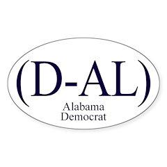 (D-AL) Alabama Democrat Oval Decal