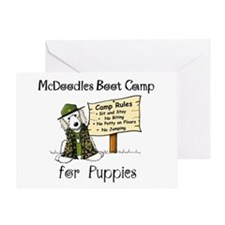 McDoodles Boot Camp Greeting Card
