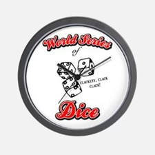 World Series Of Dice Wall Clock