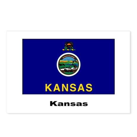 Kansas State Flag Postcards (Package of 8)