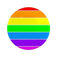 """Rainbow GLBT Pride 3.5"""" Button"""