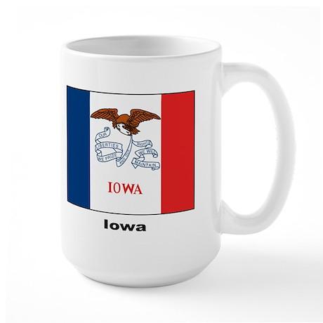 Iowa State Flag Large Mug