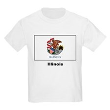 Illinois State Flag Kids T-Shirt