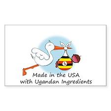 Stork Baby Uganda USA Decal