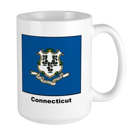 Connecticut State Flag Large Mug