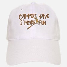 Campers Have S'More Fun! Baseball Baseball Cap