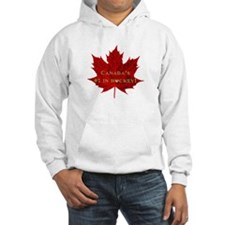 Canada'S #1 In Hockey Gold Heart Hoodie