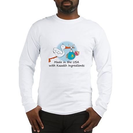 Stork Baby Kazakhstan USA Long Sleeve T-Shirt