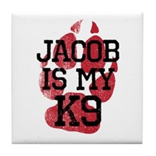 Jacob is My K9 Tile Coaster