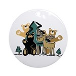 Woodland Firends Ornament (Round)