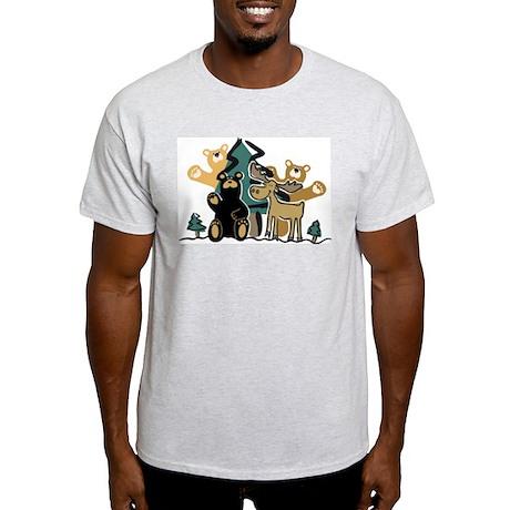Woodland Firends Ash Grey T-Shirt