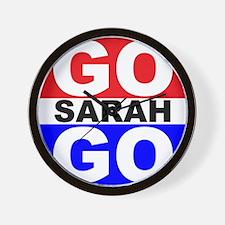 Go Sarah Go Wall Clock
