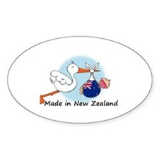 Stork Baby New Zealand Decal