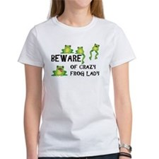 Beware of Crazy Frog Lady Tee
