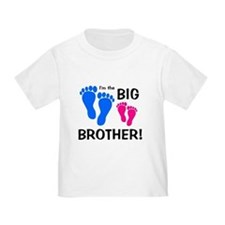 Big Brother Baby Footprints T