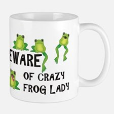 Beware of Crazy Frog Lady Mug