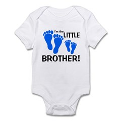 Little Brother Baby Footprint Infant Bodysuit
