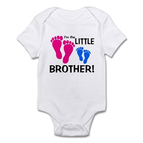 Little Brother Baby Footprint Infant Bodysuit