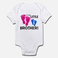 Little Brother Baby Footprint Onesie