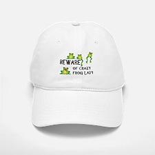 Beware of Crazy Frog Lady Baseball Baseball Cap