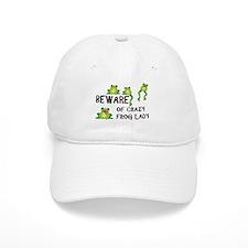 Beware of Crazy Frog Lady Baseball Cap
