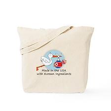 Stork Baby North Korea USA Tote Bag
