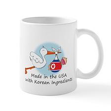 Stork Baby North Korea USA Mug