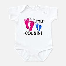 Little Cousin Baby Footprints Infant Bodysuit