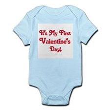 It's My First Valentine's Day Infant Creeper