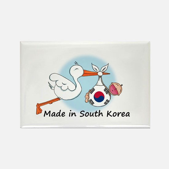 Stork Baby South Korea Rectangle Magnet