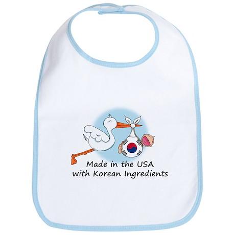 Stork Baby South Korea USA Bib