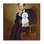 Lincoln / Maltgese (B) Tile Coaster
